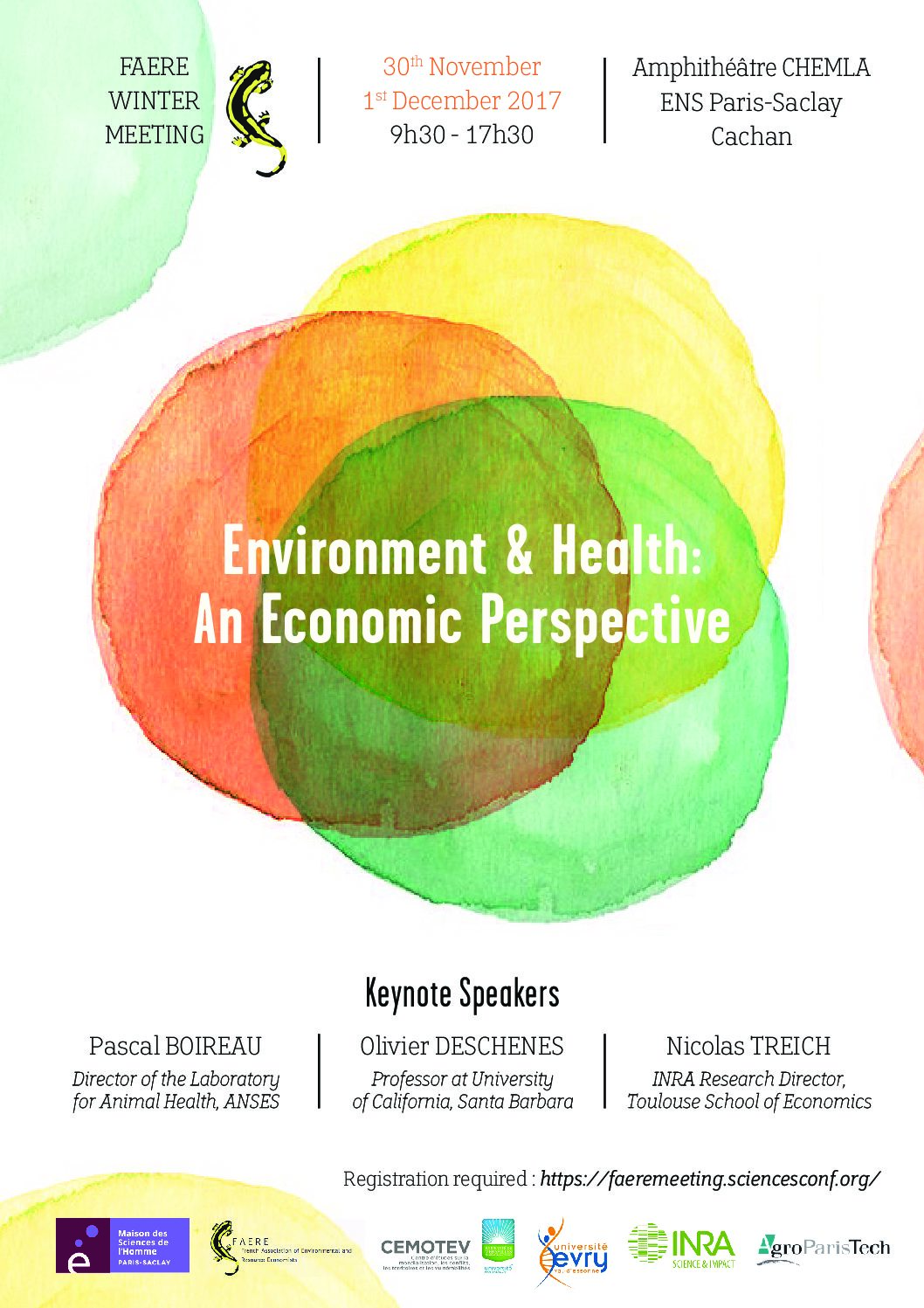 Call for Papers – FAERE Winter Meeting « Environment & Health: An Economic Perspective – 29/10/2017