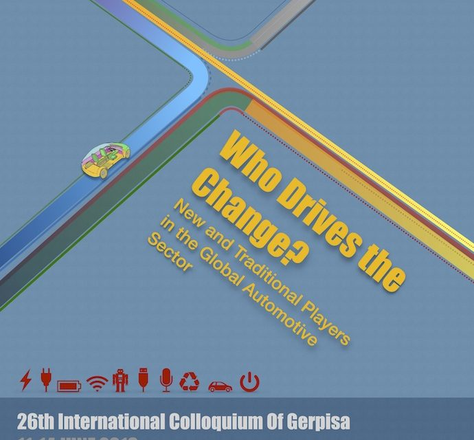 Call for proposals – 26th International Colloquium of Gerpisa – 31/01/2018