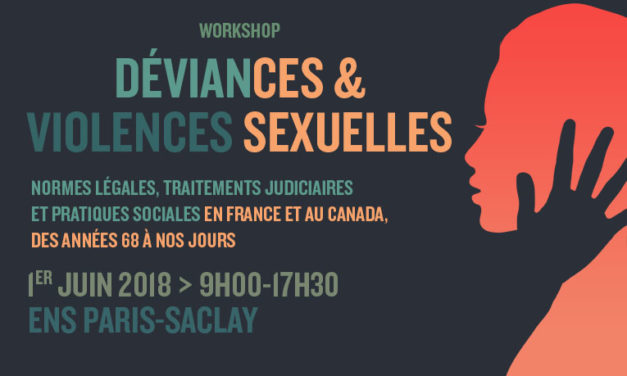 Workshop « Déviances et violences sexuelles » – 1/06/2018