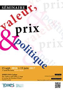 Séminaire Valeur, prix et politique