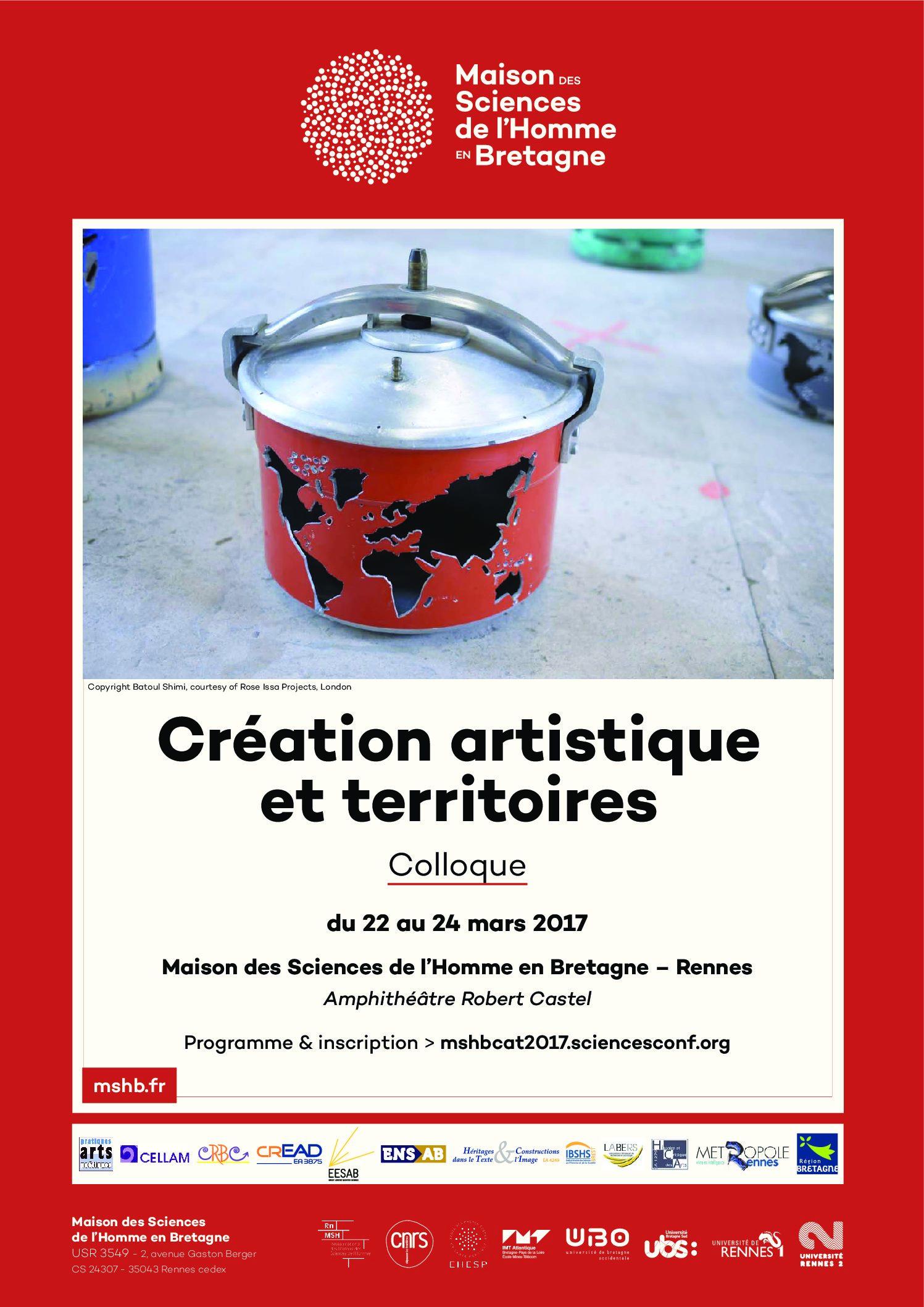 Colloque «Création artistique et territoires»