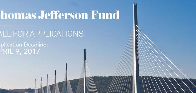 Appel à projets/bourses franco-américain – Thomas Jefferson Fund