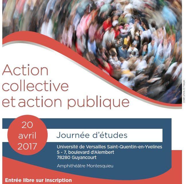 Journée d'études «Action collective et action publique» – 20/04/2017