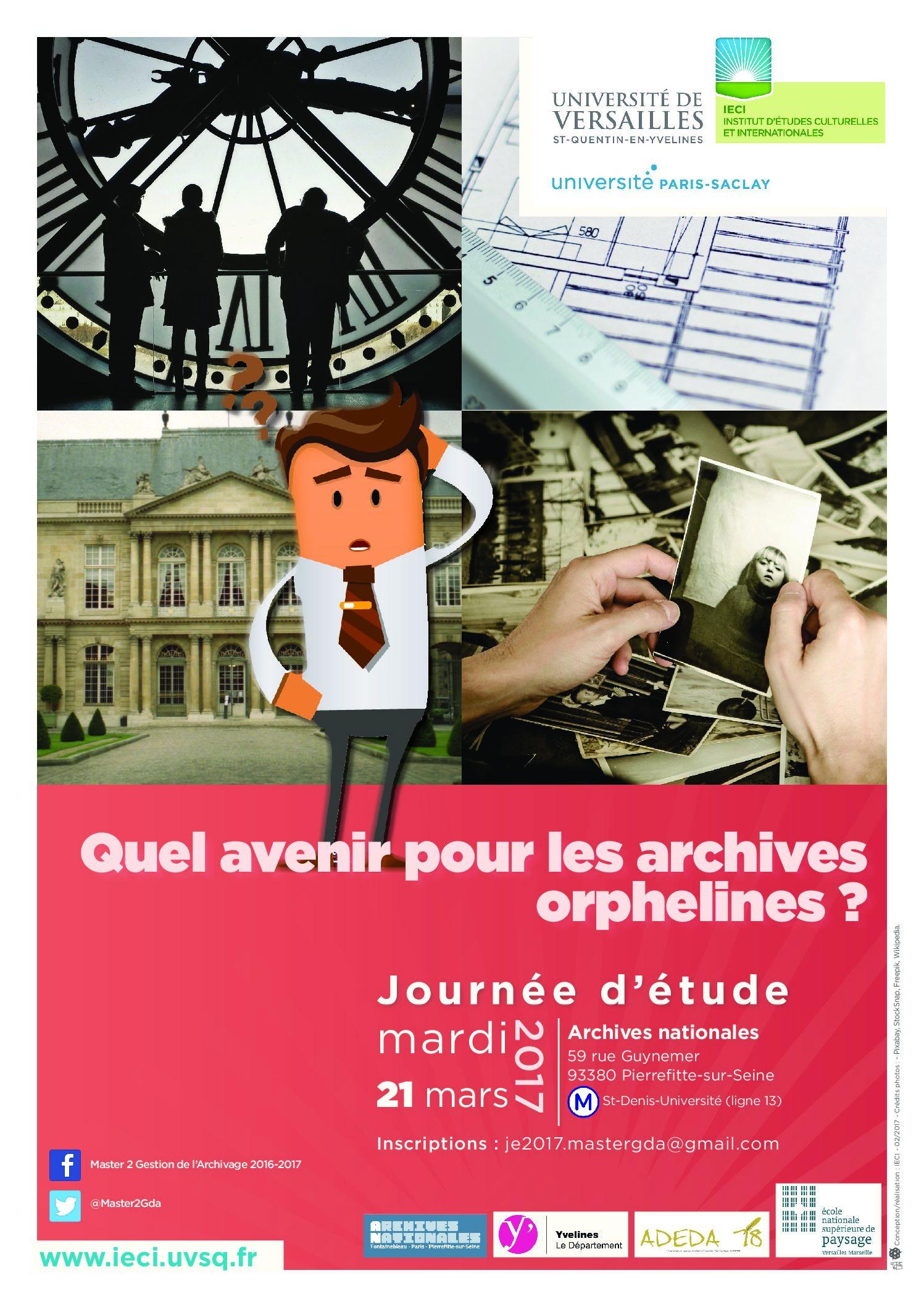 Journée d'études «Quel avenir pour les archives orphelines ?» – 21/03/2017