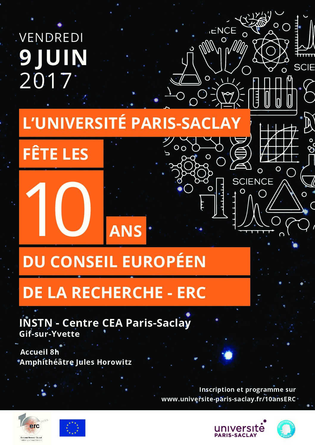 10 ans d'ERC – Université Paris-Saclay – 9/06/2017