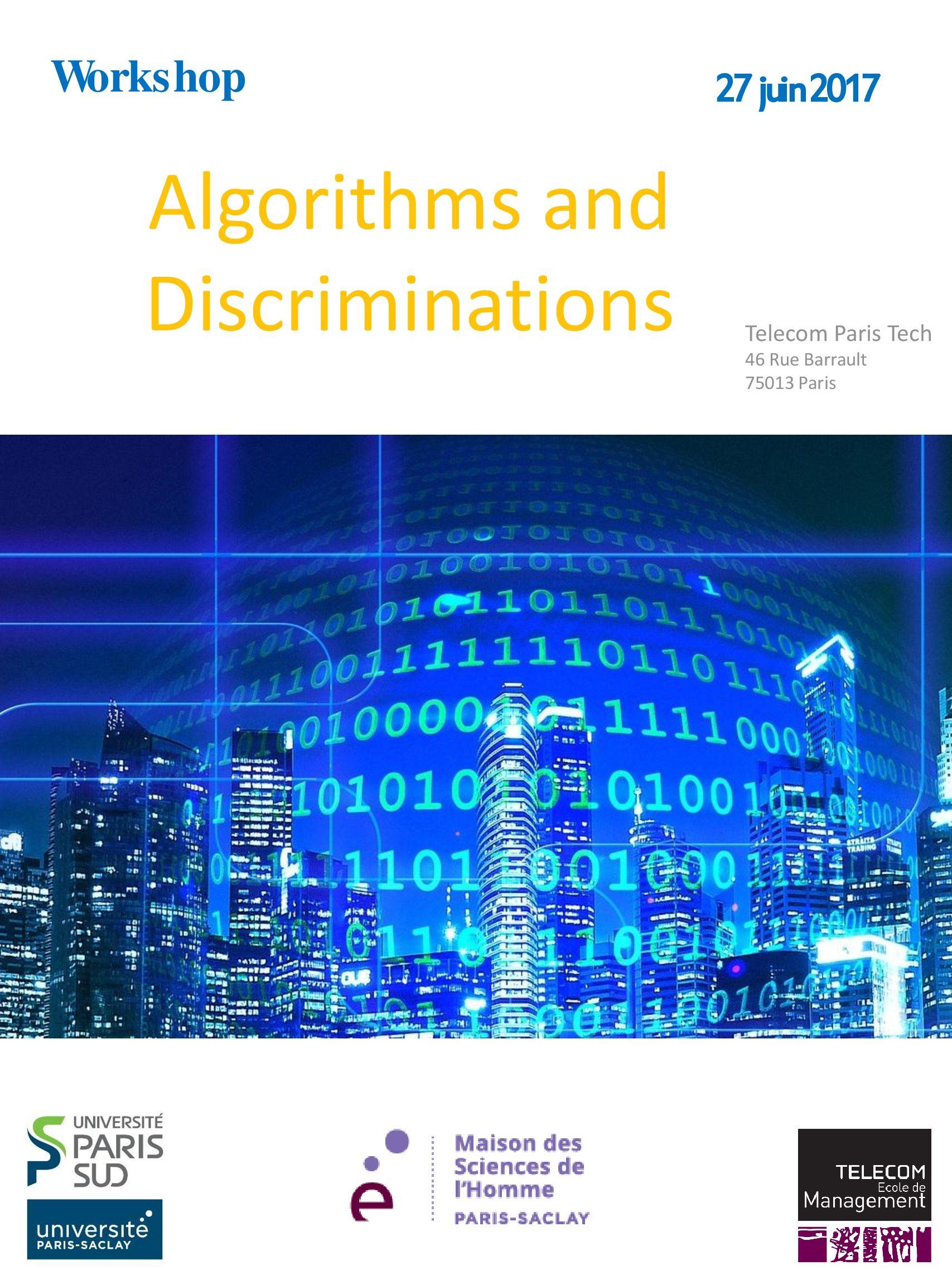 Workshop «Algorithms and Discriminations» – 27/06/2017