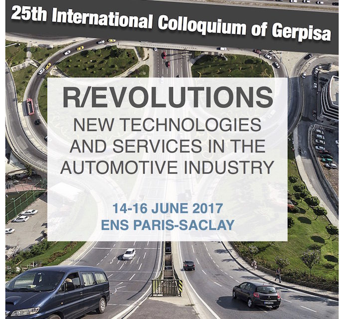 25th International Colloquium of Gerpisa – 14-16/06/2017