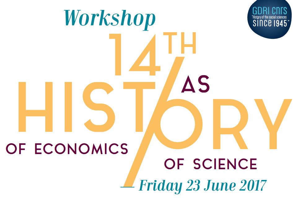 Workshop « History of Economics as History of Science » – 23/06/2017