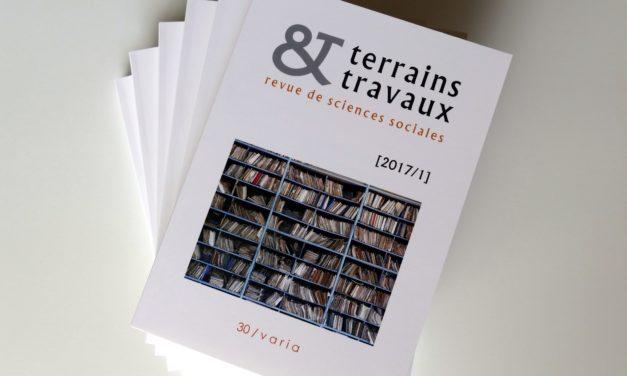 Parution du n°30 de la revue Terrains & Travaux