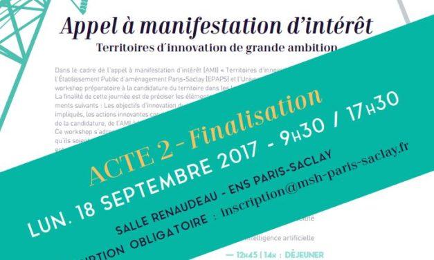 Workshop AMI-TIGA – Acte 2 – 18/09/2017