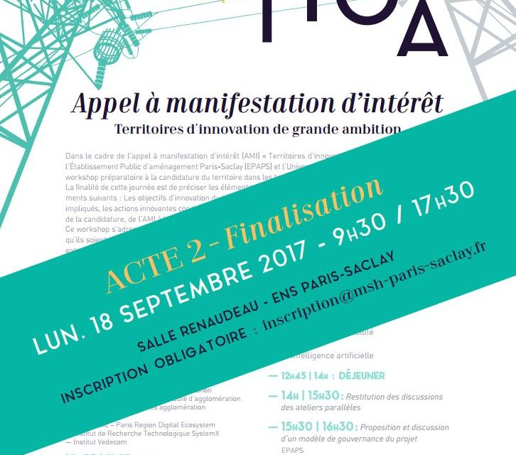 Workshop AMI-TIGA – Acte 2 – 18/09/2017