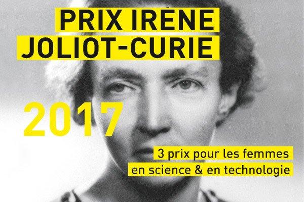 Prix Irène Joliot-Curie – 15/09/2017