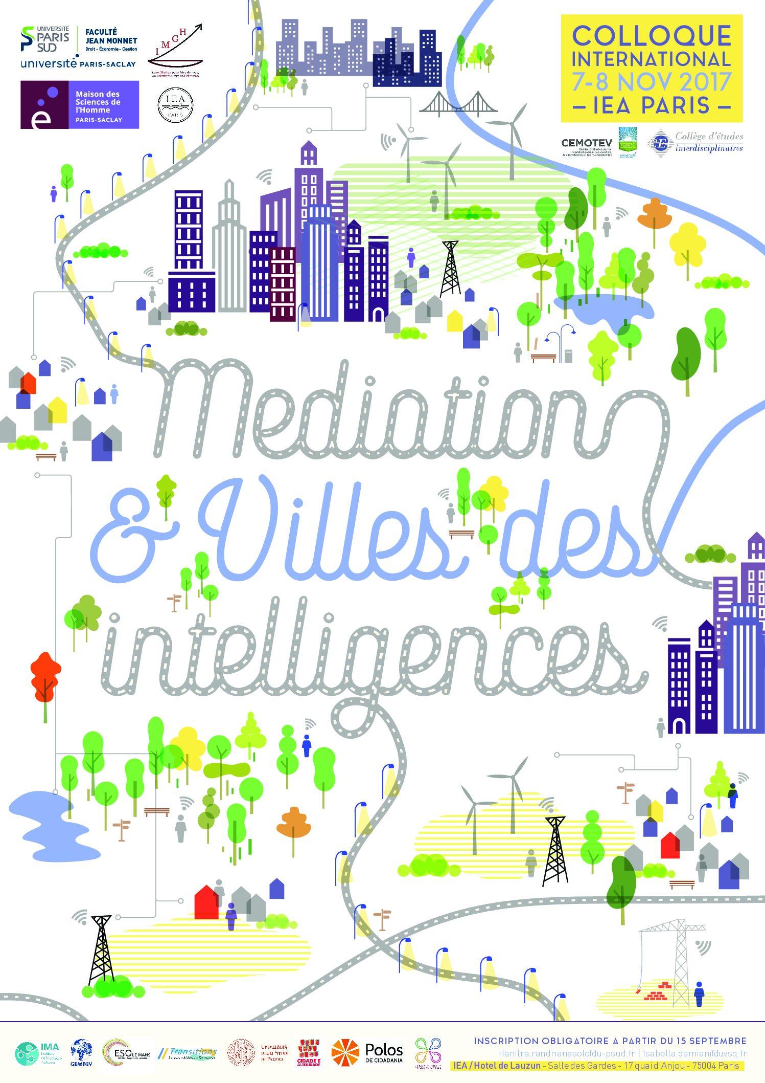 Colloque international « Médiation et Villes des Intelligences » – 7- 8 /11/2017