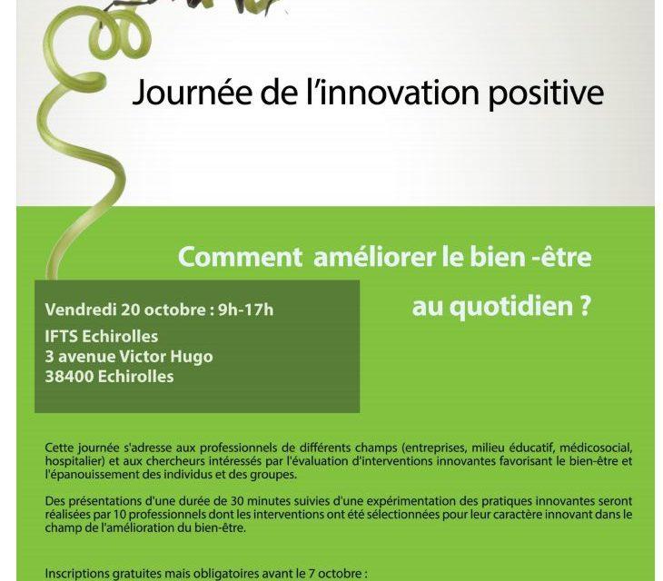Journée de l'innovation positive : Comment améliorer le bien-être au quotidien ? – 20/10/2017