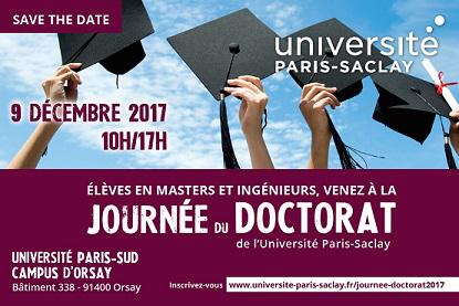 La journée du DOCTORAT de l'Université Paris-Saclay – 9/12/2017