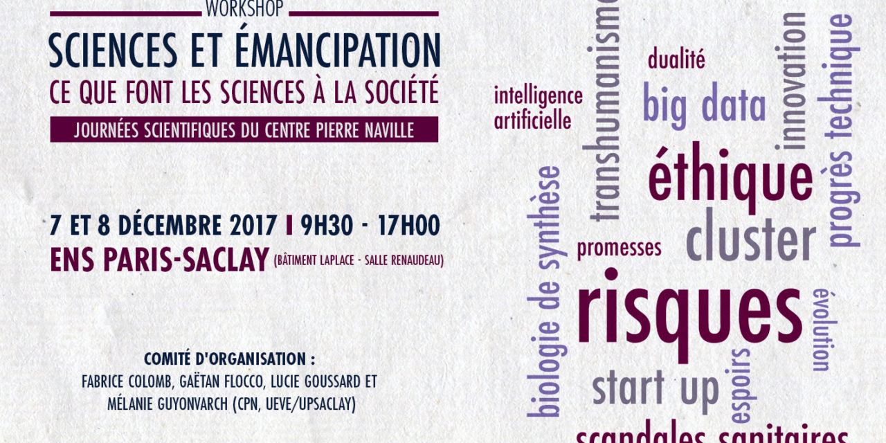 Workshop Sciences et Emancipation – 7-8/12/2017