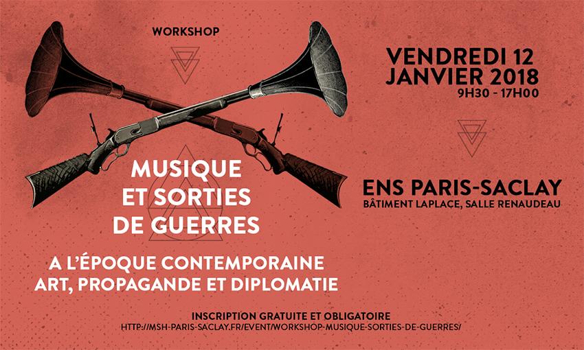 Workshop «Musique et Sorties de Guerres» – 12/01/2018