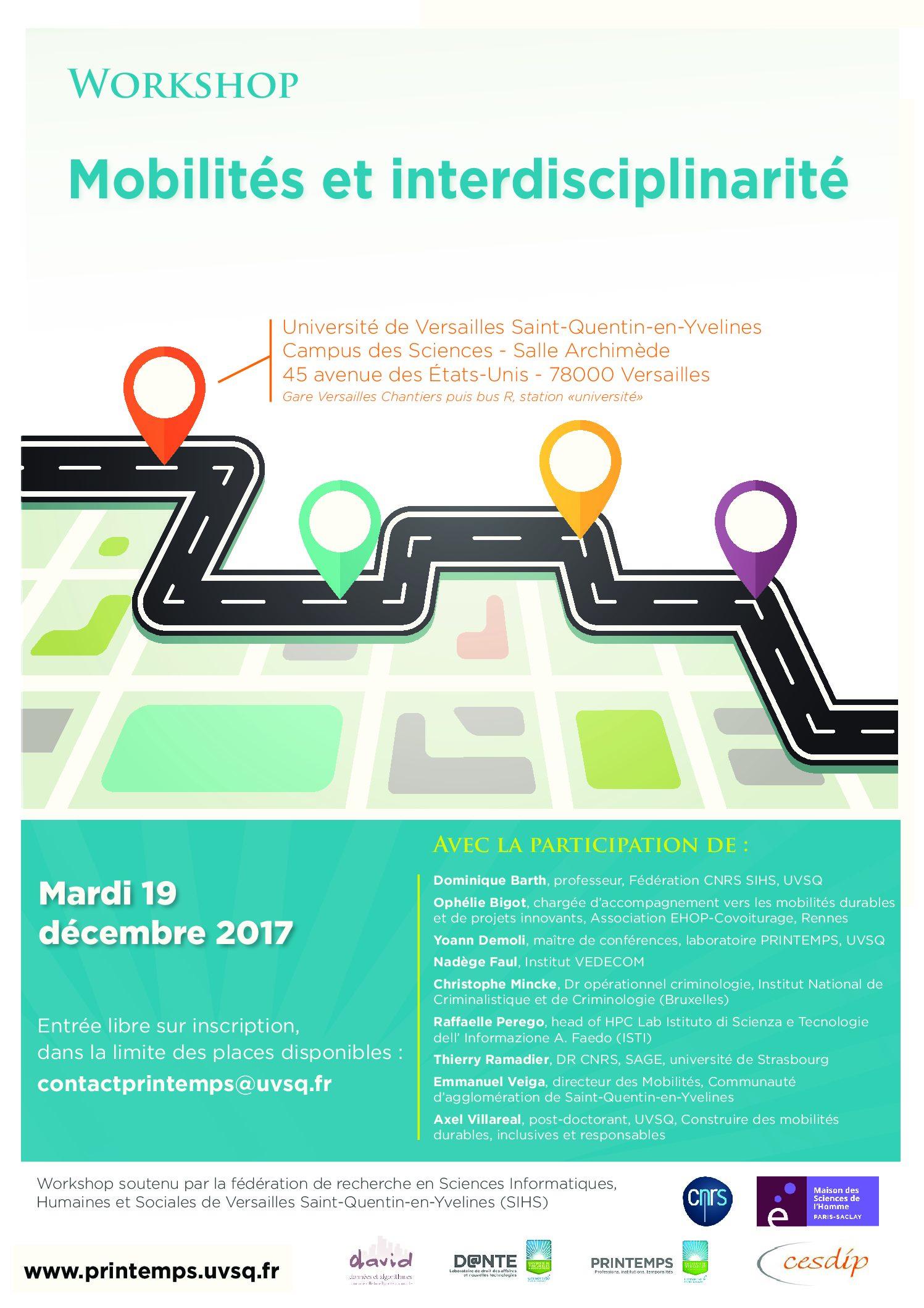 Workshop «Mobilités et interdisciplinarité» – 19/12/2017