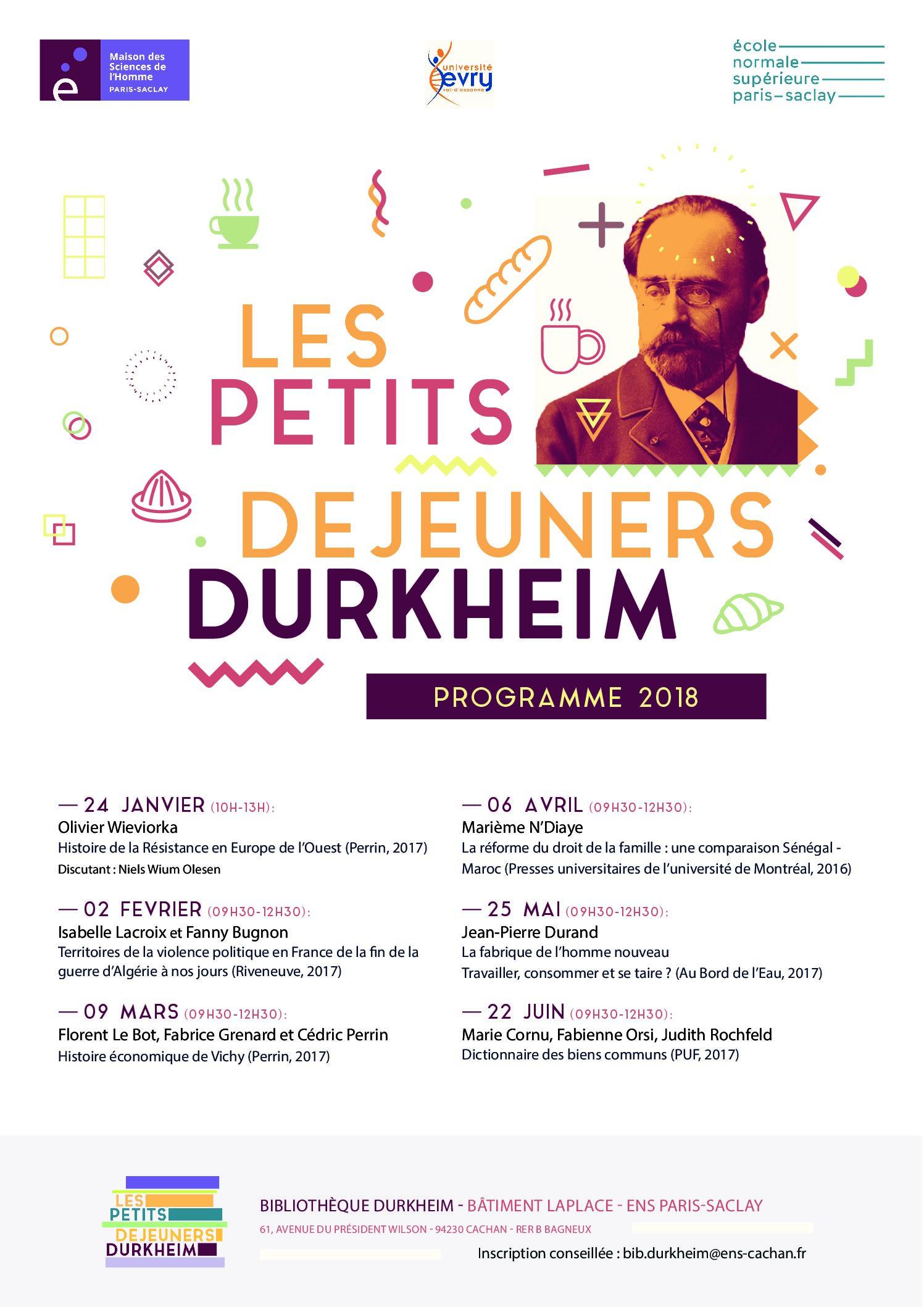 Les Petits Déjeuners Durkheim 2018