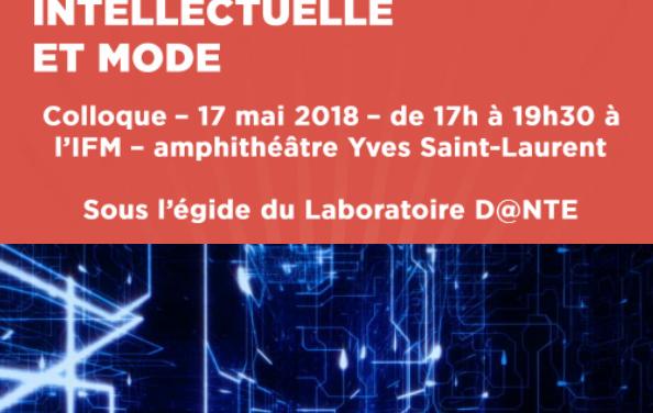 Colloque « Blockchain, Propriété Intellectuelle et Mode » – 17/05/2018