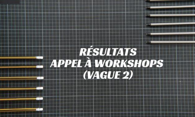 Résultats de l'appel à Workshops (vague 2) de la MSH Paris-Saclay