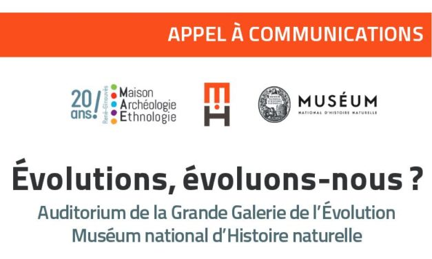 Appel à communications – 15e colloque de la MAE : Évolutions, évoluons-nous ? – 15/09/2018