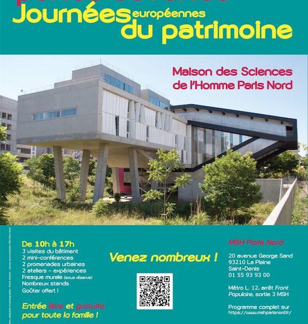 JEP – Portes ouvertes MSH Paris Nord – 15/9/2018