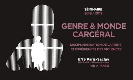 Nouvelle saison du séminaire  Genre et monde carcéral – 8/10/2018