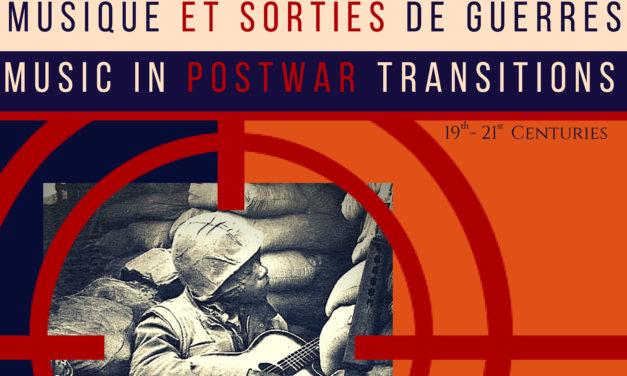 Colloque Musique et sorties de guerres – Montréal – 18-20/10/2018