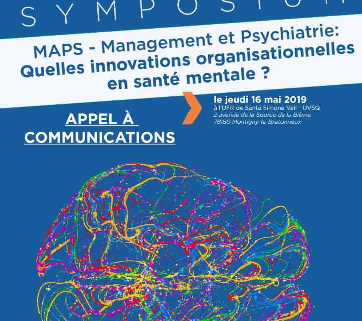 Appel à communications Symposium «Management et Psychiatrie : Quelles innovations organisationnelles en santé mentale ?» – 30/12/2018