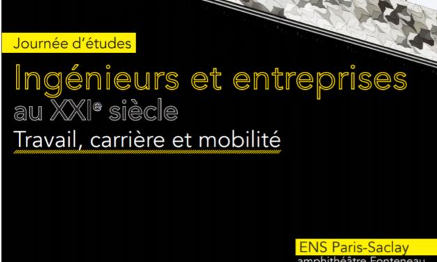 Journée d'études «Ingénieurs et Entreprises au XXIè siècle»- 12/03/2019
