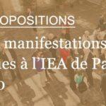 Appel à propositions – Accueil de manifestations scientifiques à l'IEA de Paris – 15/5/2019