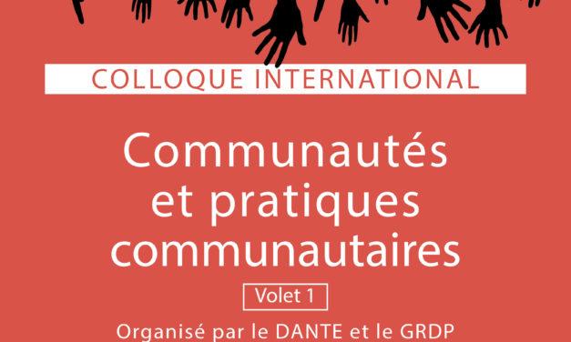 Communautés et pratiques communautaires – 11/6/2019
