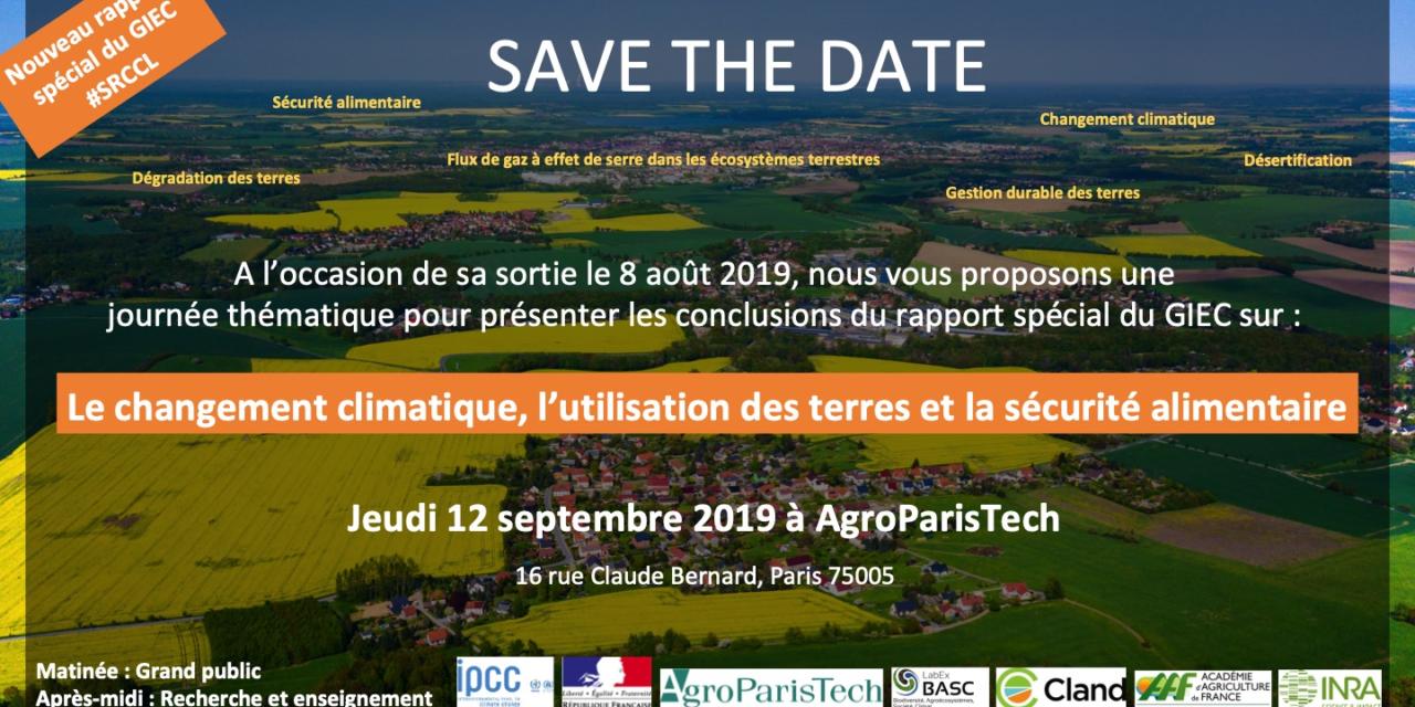 Journée thématique sur le nouveau rapport spécial du GIEC – 12/9/2019