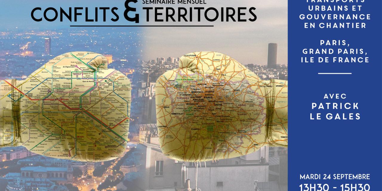 Séminaire Conflits et territoires – Patrick Le Gales – 24/9/2019
