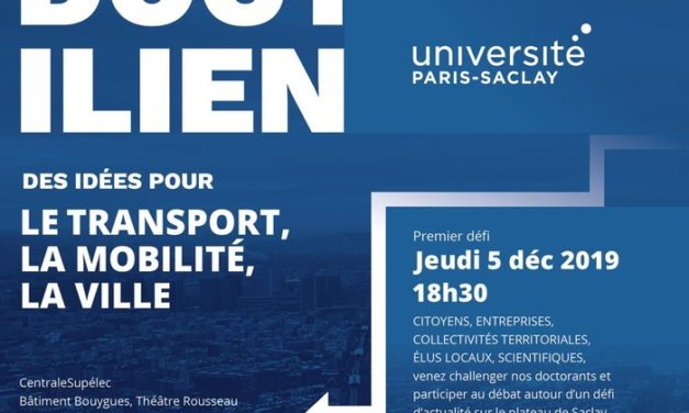 Appel à participation – Doct'ilien «Des idées pour le transport, la mobilité et la ville» – 5/12/2019