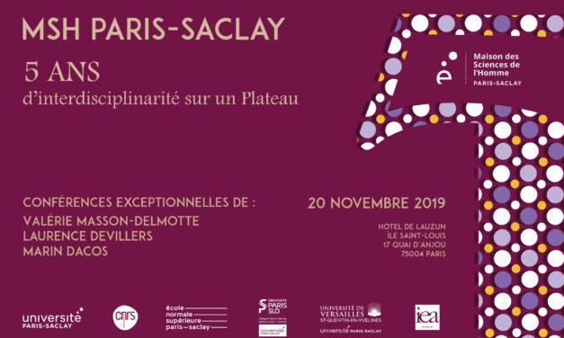 La MSH Paris-Saclay fête ses 5 ans le 20 novembre !
