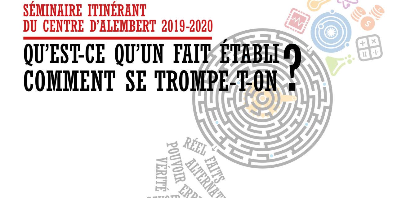 Annulé / SÉMINAIRE DU CENTRE D'ALEMBERT – 25/03/2020