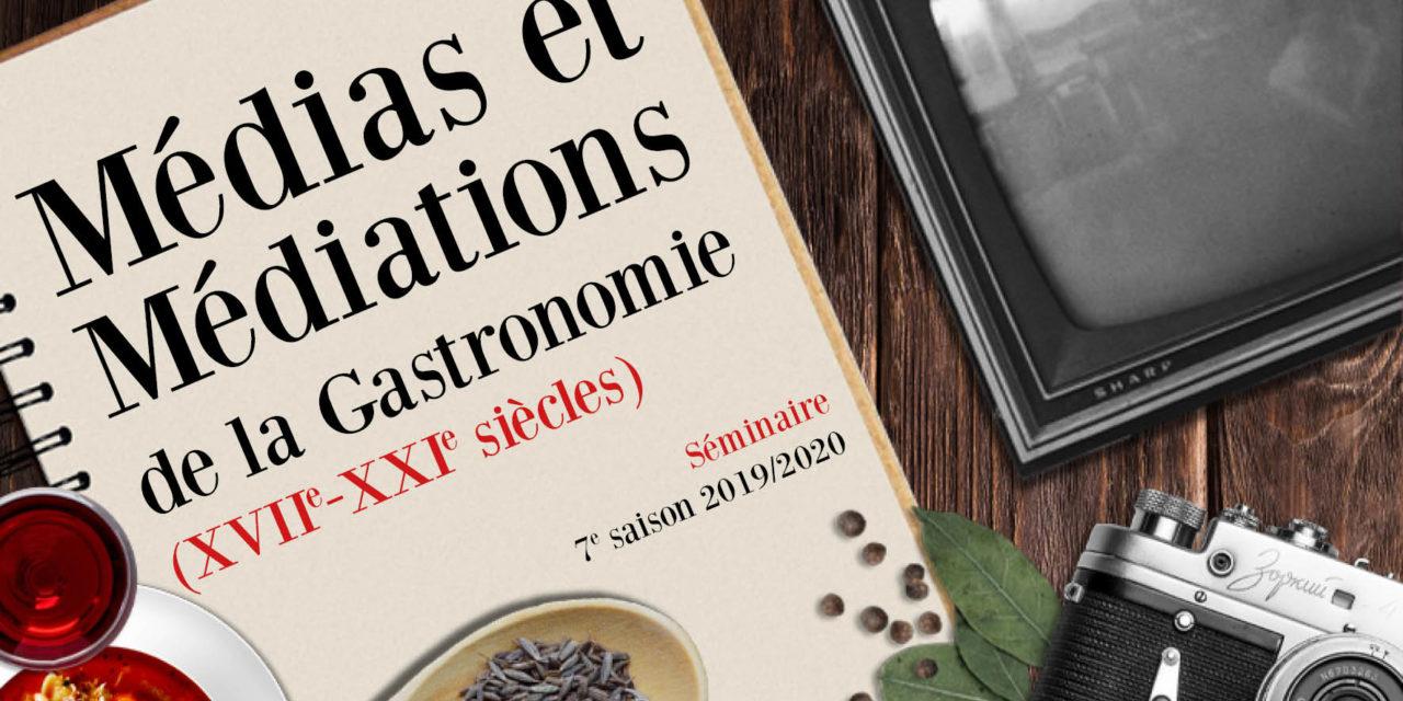 Annulé / Séminaire Médias et médiations de la gastronomie – 17/03/2020