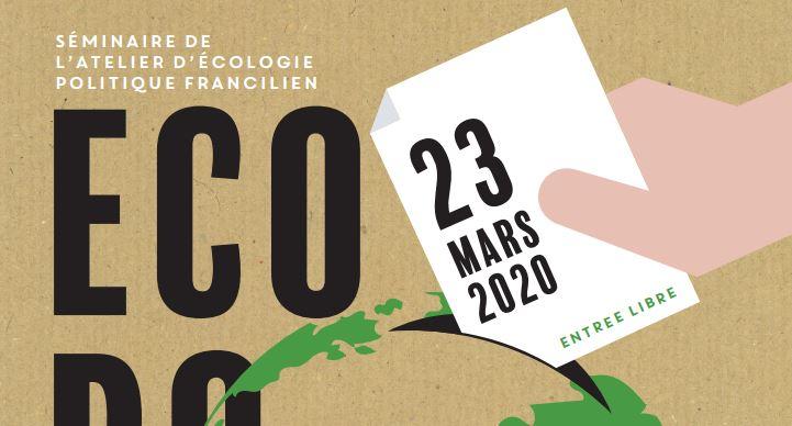 Annulé / Séminaire de l'Atelier d'écologie politique francilien – 23/03/2020