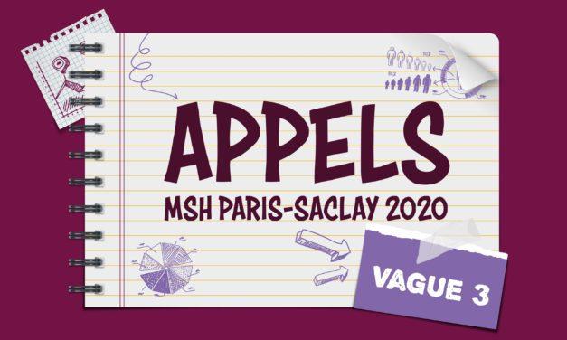 Résultats des Appels à projets MSH Paris-Saclay 2020 Vague 3