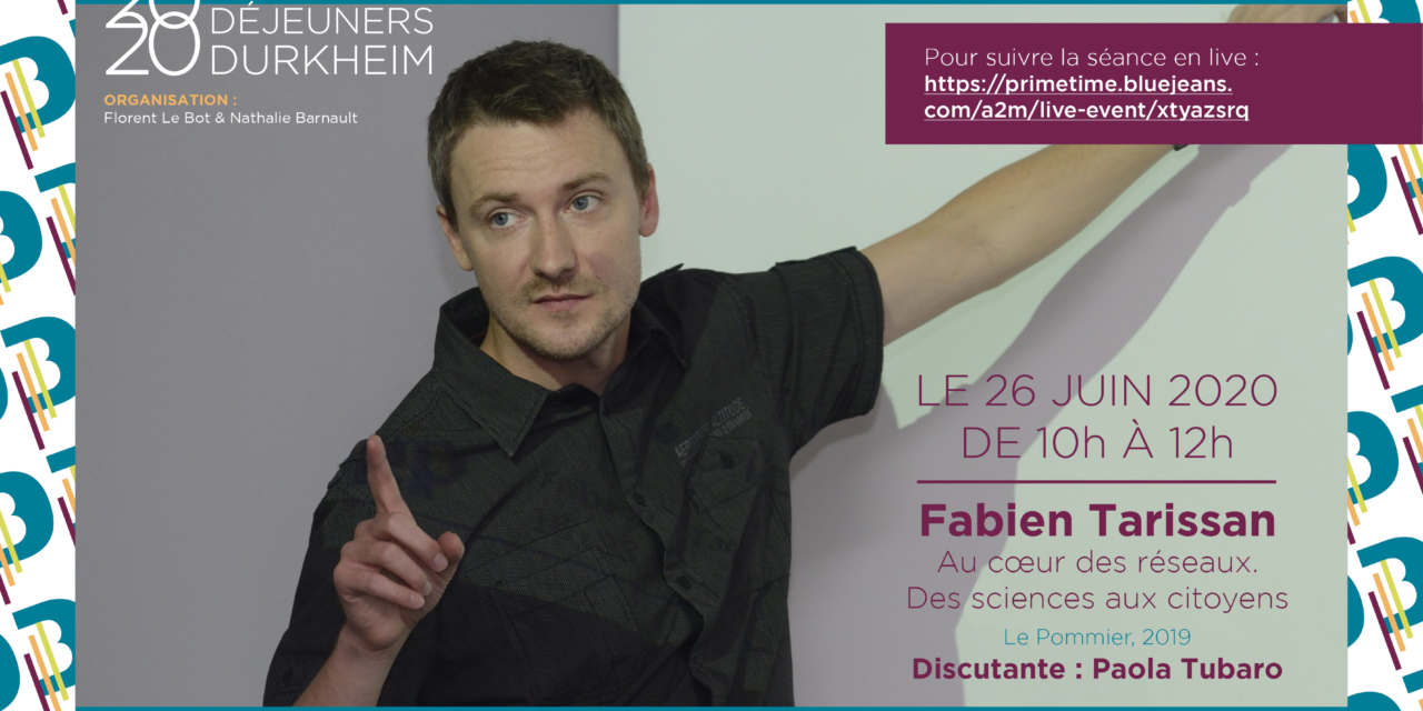 WebConférence Petits Déjeuners Durkheim – Fabien Tarissan – 26/06/2020
