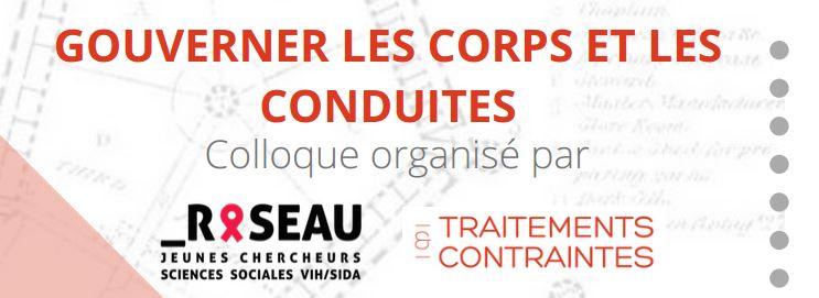 Colloque «Gouverner les corps et les conduites» – 15-16/10/2020