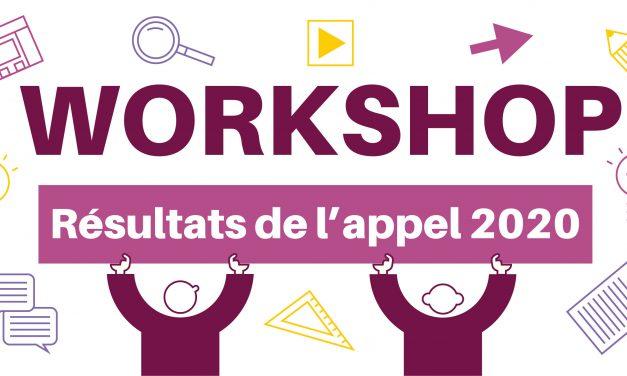 Résultats de l'Appel à workshops MSH Paris-Saclay 2020 – vague 3