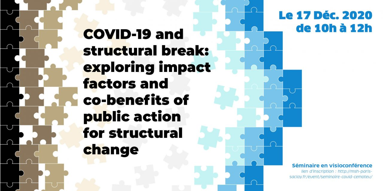 SÉMINAIRE « COVID-19 AND STRUCTURAL BREAK: EXPLORING IMPACT FACTORS AND CO-BENEFITS OF PUBLIC ACTION FOR STRUCTURAL CHANGE » – 17/12/2020
