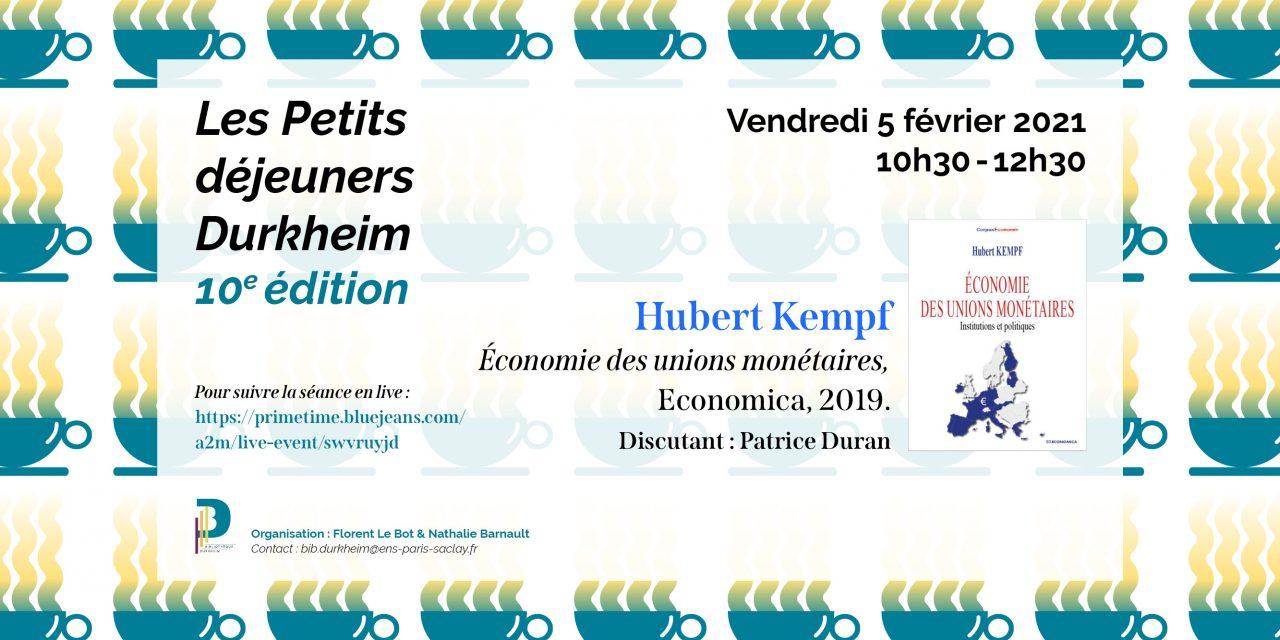 Petits Déjeuners Durkheim – Hubert Kempf – 05/02/2021