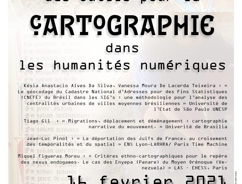 séminaire bimensuel des Sources aux Systèmes d'Information Géographique – 16/02/2021