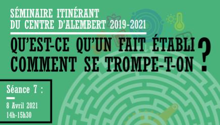 Séminaire du Centre d'Alembert – Qu'est-ce que valider un fait en économie ? – 08/04/2021