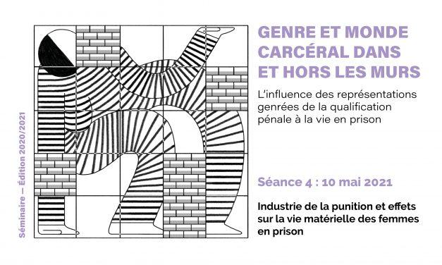 Séminaire « genre et monde carcéral » – Séance 4 – 10 mai 2021
