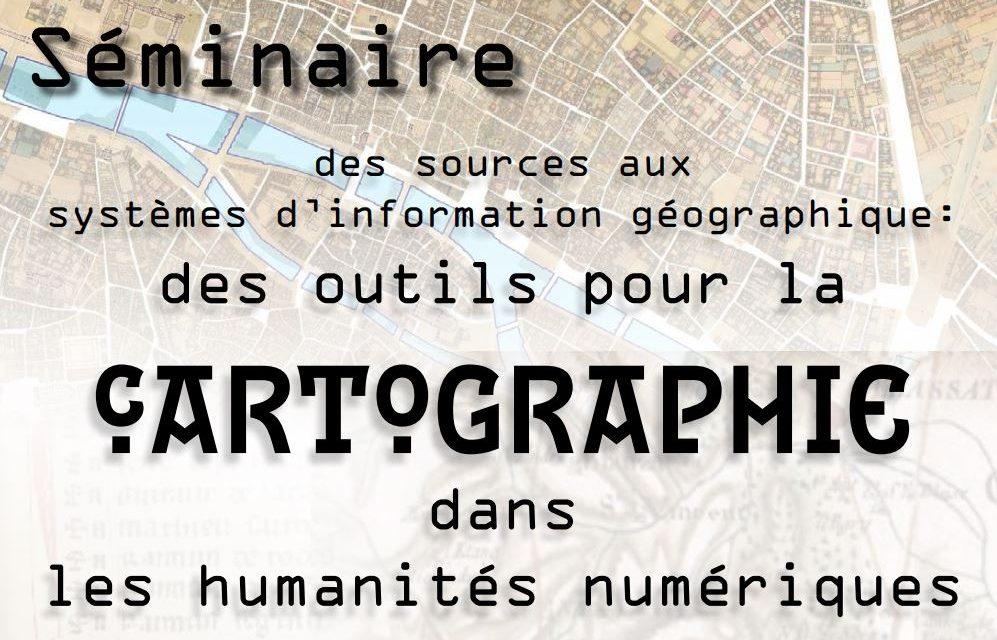 Séminaire bimensuel des Sources aux Systèmes d'Information Géographique – 1er juin 2021